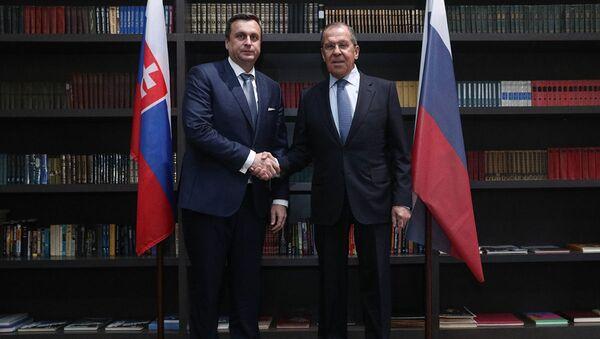 Andrej Danko a Sergej Lavrov při jednání v Soči - Sputnik Česká republika