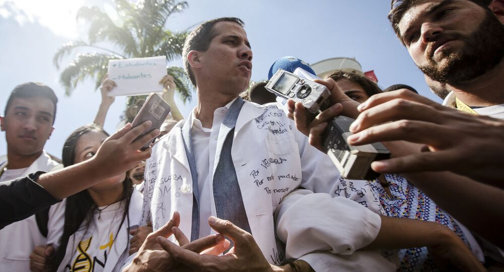 Lídr venezuelské opozice Juan Guaido