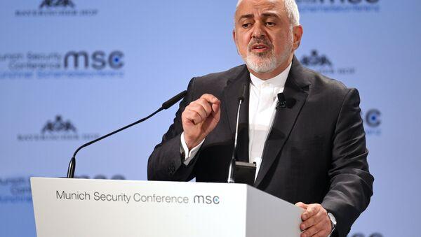 Íránský ministr zahraničních věcí Mohammad Džavád Zaríf - Sputnik Česká republika