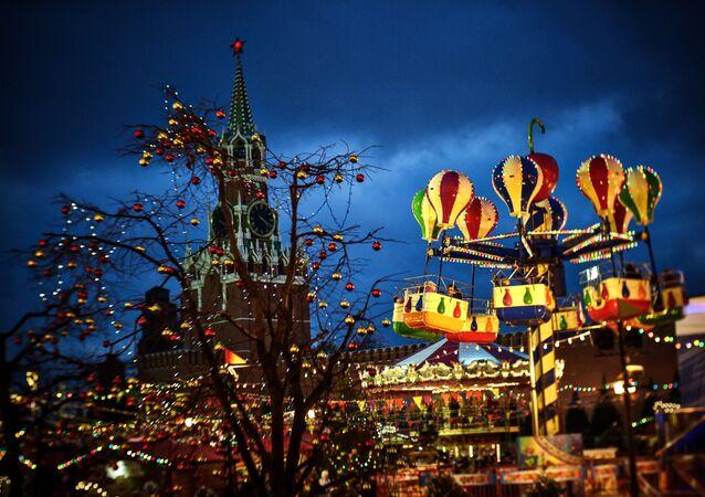 Vánoční trh v Moskvě