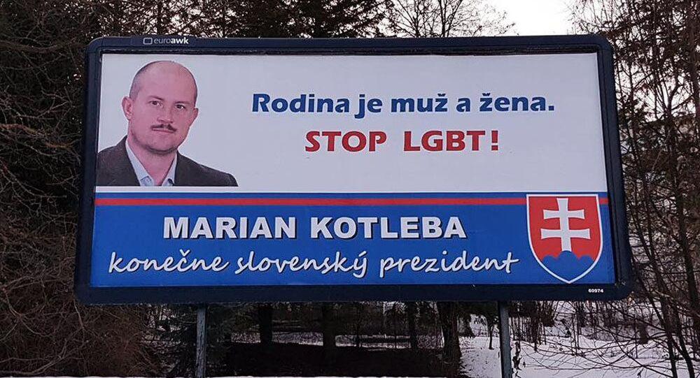 Reklamní poutač volební kampaně Mariana Kotleby