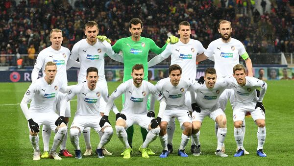 Fotbalisté Plzně před zápasem Ligy mistrů v Moskvě - Sputnik Česká republika