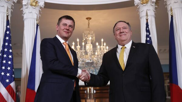 Ministr zahraničí Tomas Petříček a šéf americké diplomacie Mike Pompeo - Sputnik Česká republika