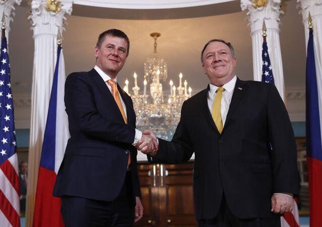 Ministr zahraničí Tomas Petříček a šéf americké diplomacie Mike Pompeo