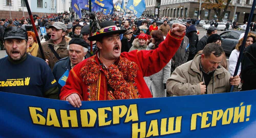 Pochod nacionalistů v Kyjevě