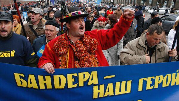 Pochod nacionalistů v Kyjevě - Sputnik Česká republika