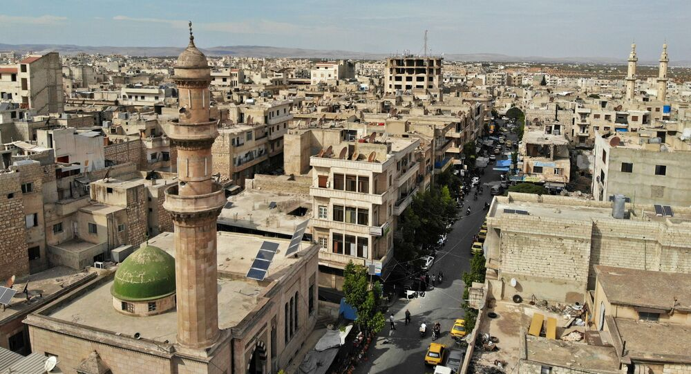 Pohled na Idlib, Sýrie