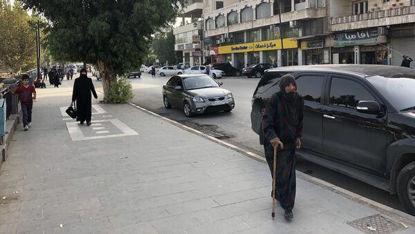 Ulice v syrském městě Hamá - Sputnik Česká republika