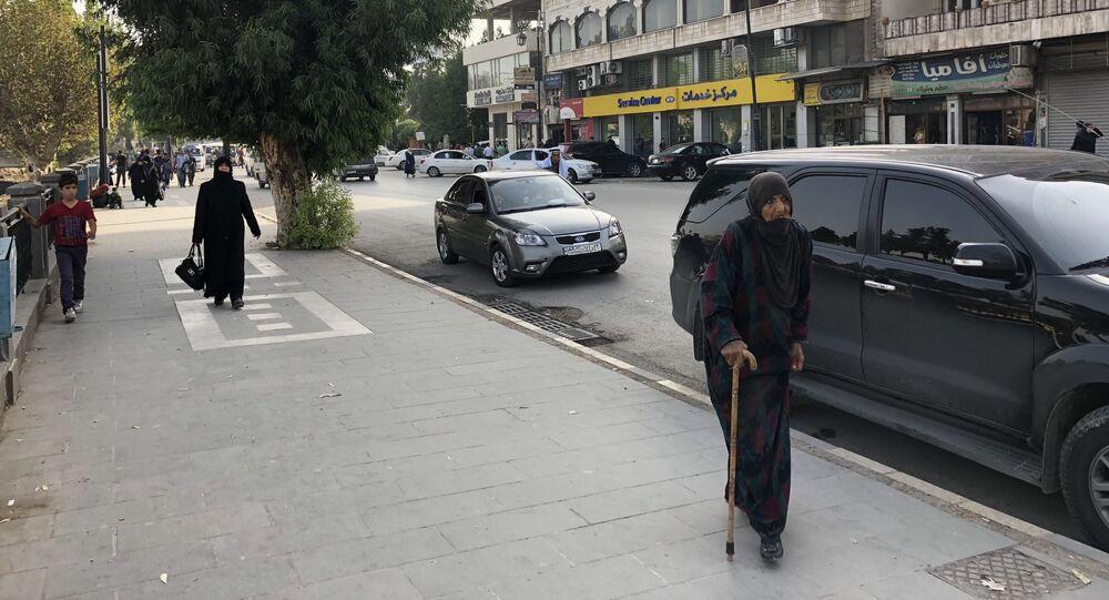 Ulice v syrském městě Hamá