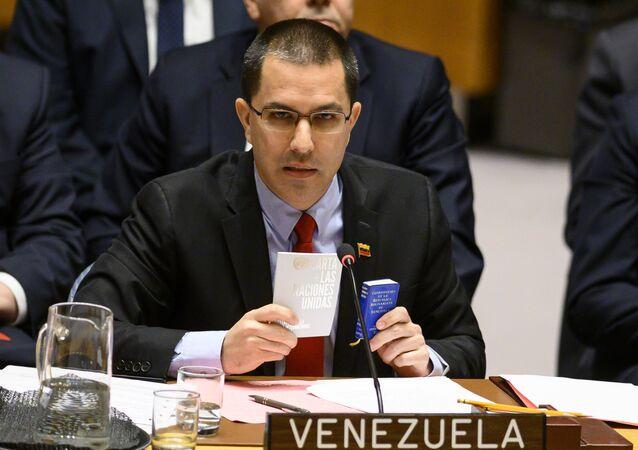 Hlava venezuelského Ministerstva zahraničí Jorge Arreaza