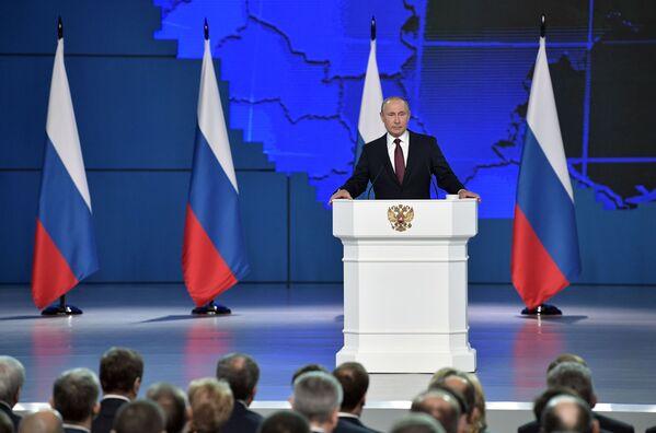 Každoroční projev prezidenta Putina Federálnímu shromáždění Ruské Federace - Sputnik Česká republika