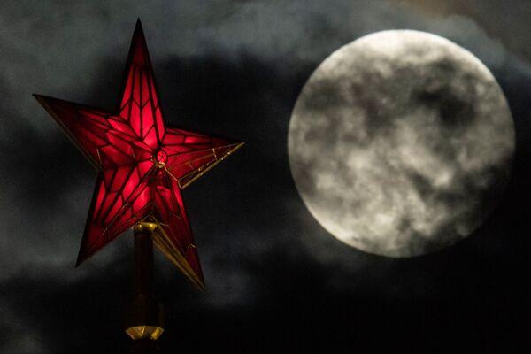 Měsíc v úplňku, Moskva - Sputnik Česká republika