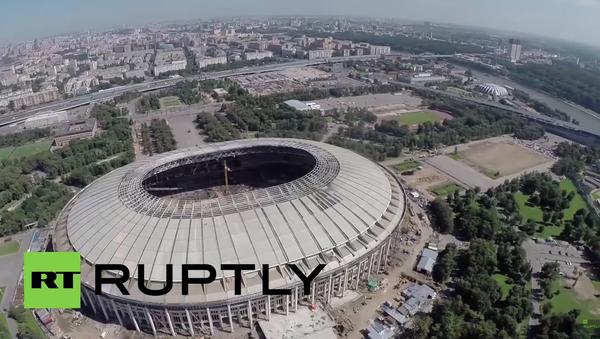 Rusko: dron zachytil rekonstrukci stadionu, kde proběhne finále MS 2018 - Sputnik Česká republika