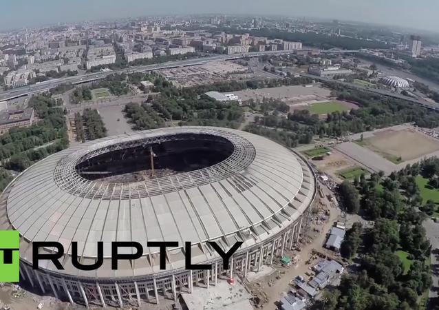 Rusko: dron zachytil rekonstrukci stadionu, kde proběhne finále MS 2018