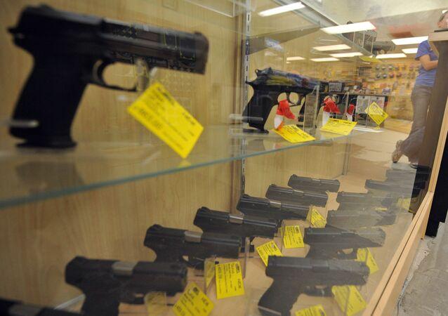 Obchod se zbraněmi. Ilustrační foto