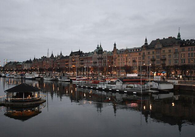 Nábřeží ve Stockholmu