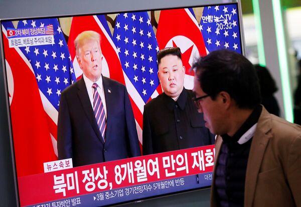 Summit plný očekávání: Trump a Kim jednají o jaderném odzbrojení - Sputnik Česká republika