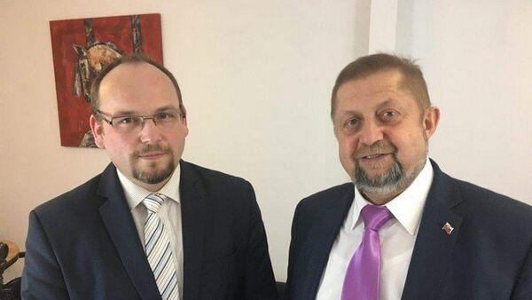 Na snímku Anton Chromík a Štefan Harabin - Sputnik Česká republika