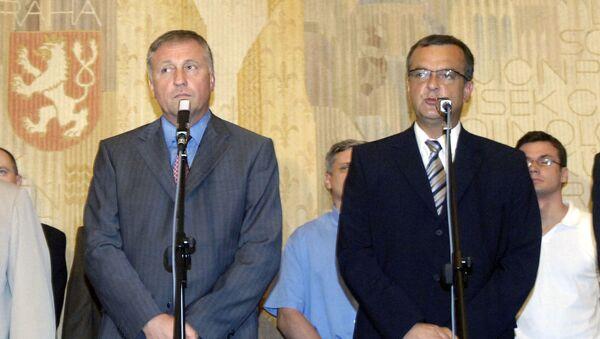 Mirek Topolánek a Miroslav Kalousek - Sputnik Česká republika