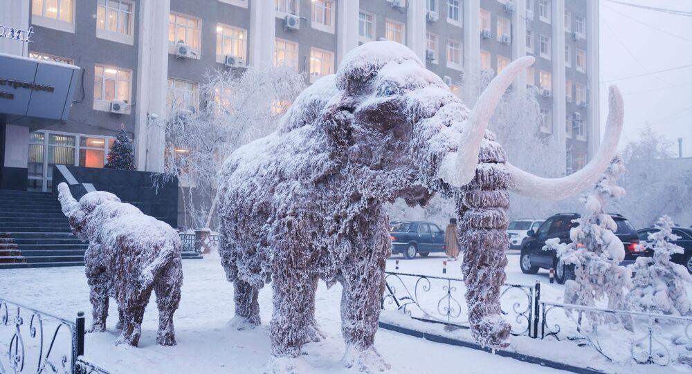 Socha mamuta v Jakutsku