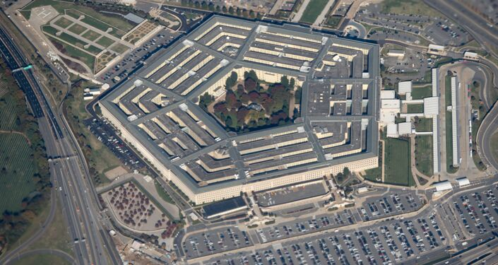 Pohled na budovu Pentagonu ve Washingtonu, USA