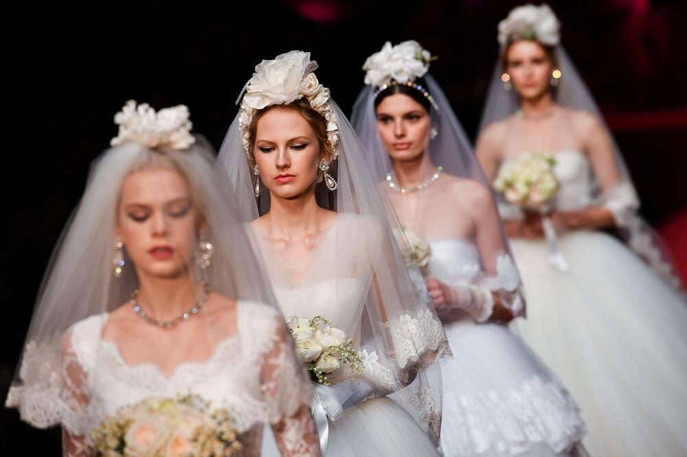 Módní přehlídka Dolce & Gabbana na módním týdnu v Miláně