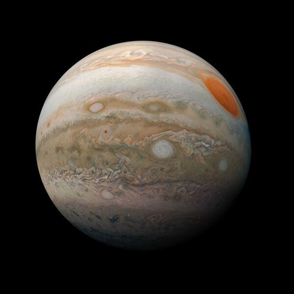 Nová fotografie Jupiteru, která byla pořízená sondou Juno NASA - Sputnik Česká republika