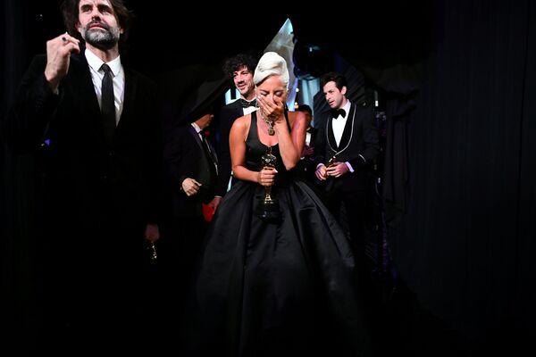 """Reakce Lady Gagy na získání Oscara za nejlepší píseň """"Shallow"""" - Sputnik Česká republika"""