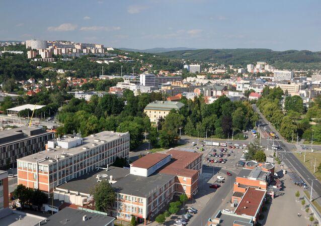 Pohled na české město Zlín