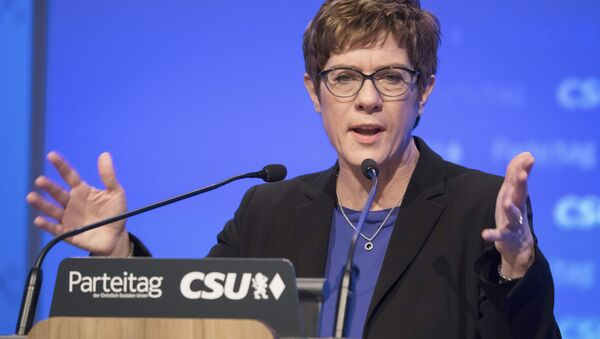Předsedkyně strany Křesťanskodemokratická unie (CDU) Annegret Kramp-Karrenbauerová - Sputnik Česká republika