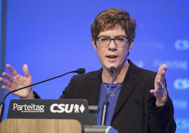 Předsedkyně strany Křesťanskodemokratická unie (CDU) Annegret Kramp-Karrenbauerová