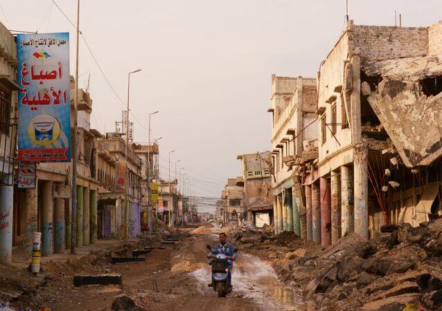 Ulice v iráském Mosulu