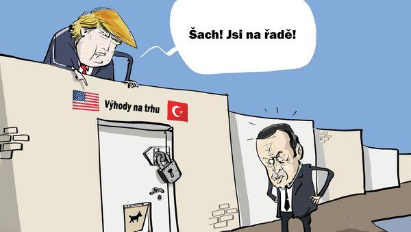 Trump hodlá zbavit Turecko zvýhodněného přístupu na trh USA - Sputnik Česká republika