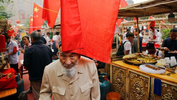 Trh v Kašgaru, Čína, Sin-ťiang - Sputnik Česká republika