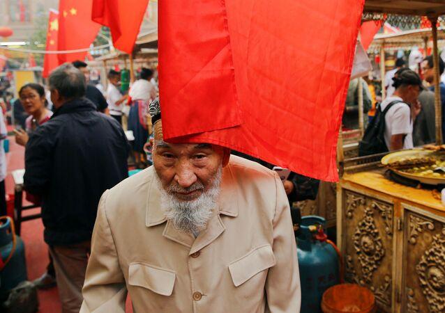 Trh v Kašgaru, Čína, Sin-ťiang