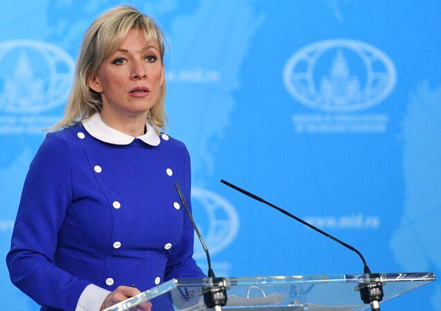 Oficiální mluvíč Ministerstva zahraničních věcí Ruska Maria Zacharovová