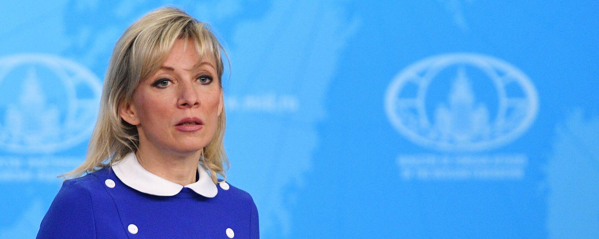 Oficiální mluvíč Ministerstva zahraničních věcí Ruska Maria Zacharovová - Sputnik Česká republika, 1920, 08.06.2021
