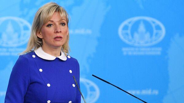 Oficiální mluvíč Ministerstva zahraničních věcí Ruska Maria Zacharovová - Sputnik Česká republika