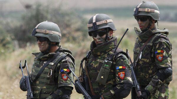 Rumunští vojáci NATO v Gruzii - Sputnik Česká republika