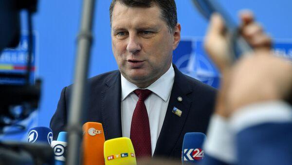Lotyšský prezident Raimonds Vējonis - Sputnik Česká republika