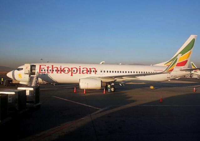 Letadlo společnosti Ethiopian Airlines. Ilustrační foto