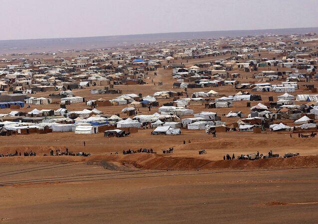 Běženecký tábor Rukban v Sýrii