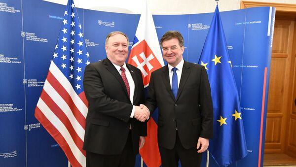 Šéf americké diplomacie Mike Pompeo a ministr zahraničních věcí SR Miroslav Lajčák - Sputnik Česká republika