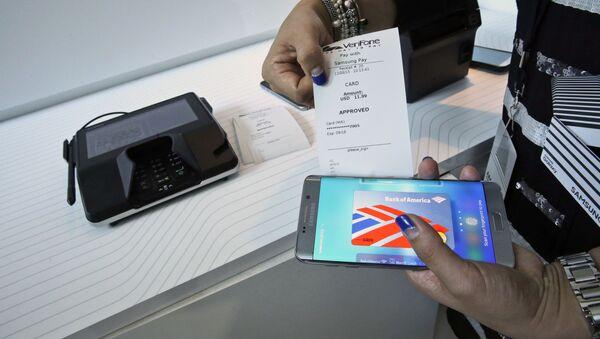 Prezentace mobilního platebního systému Samsung Pay v Jižní Korei - Sputnik Česká republika