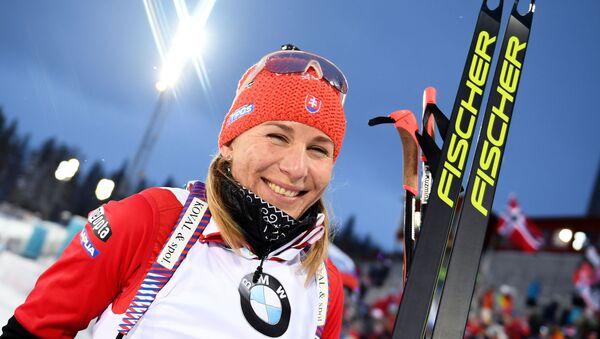 Olympijská vítězka v biatlonu Anastasia Kuzminová - Sputnik Česká republika