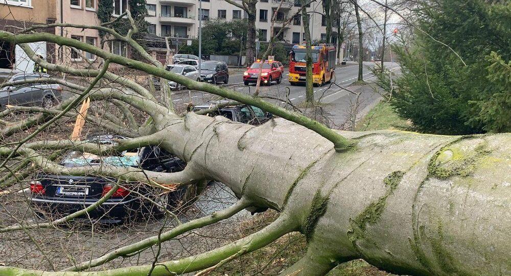 Obrovský cyklón Eberhard v Německu