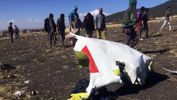 Místo havárie letadla Ethiopian Airlines - Sputnik Česká republika
