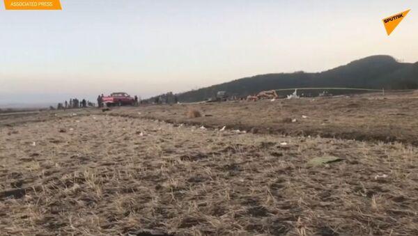 Bylo zveřejněno VIDEO z místa havárie Boeingu 737 v Etiopii - Sputnik Česká republika