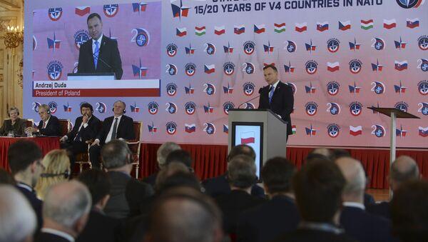 Polský prezident Andrzej Duda v Praze - Sputnik Česká republika