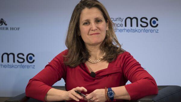 Kanadská ministryně zahraničí Chrystia Freelandová  - Sputnik Česká republika